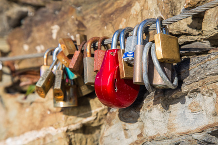 The promise of eternal love enclosed in a lock
