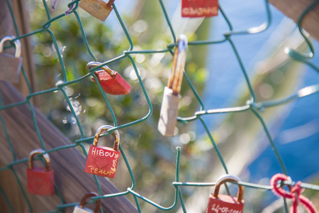 love declaration: The promise of eternal love enclosed in a lock