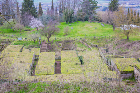 terni: Necropolis of the Tuff crucifix can be seen from the ring of the cliff that winds around the town of Orvieto.