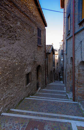 An old alley in the ancient village of Scandriglia in the province of Rieti in Italy.