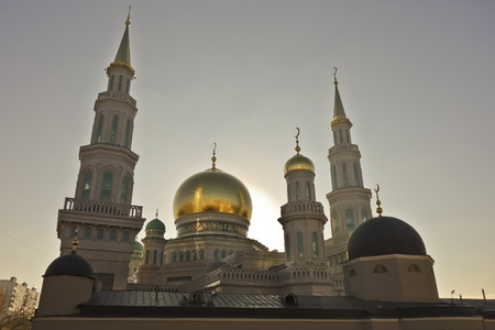 at the highest: Moscow Cathedral Mosque - the main mosque in Moscow, one of the largest and highest mosque in Russia and in Europe.