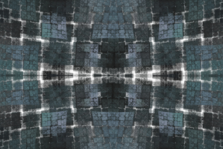 estereotipo: Sample unique fractal checkered pattern for tissue  blue  white  gray colors