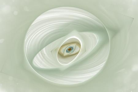 estereotipo: Volume fractal geometric design on a white background