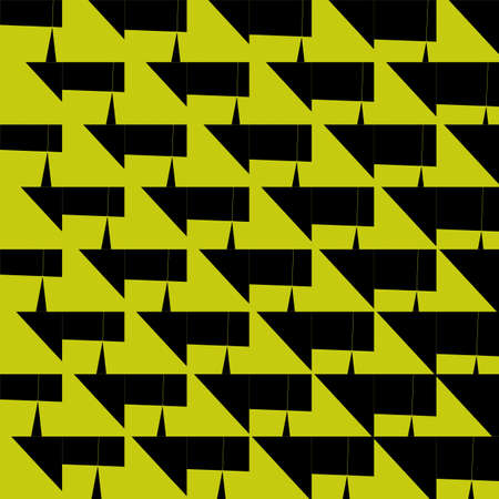 Tile mosaic seamless black and yellow pattern for square wall background, modern square mosaic grid for decoration architecture, floor of swimming pool, for fabric Foto de archivo