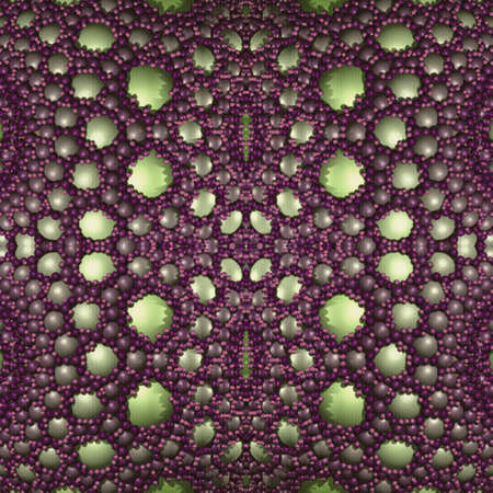 Seamless beautiful purple vintage pattern of many spheres. 3D illustration for interior decoration, tiles, textile and various creative projects.