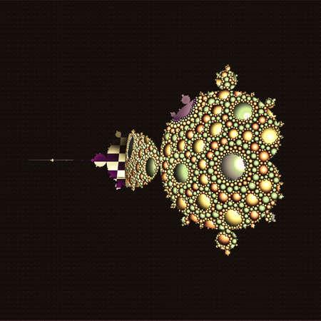 Apollonian gasket or Apollonian net Mandelbrot set fractal pattern. It is named after Greek mathematician Apollonius of Perga. 3D illustration