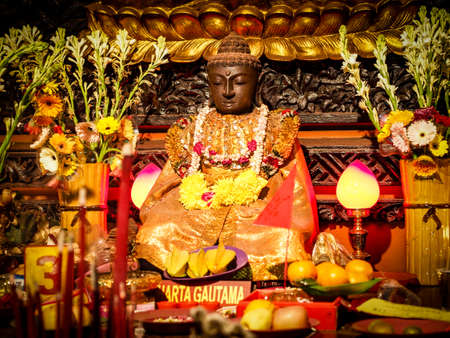 gautama buddha: Siddhartha Gautama Buddha Sculpture Stock Photo