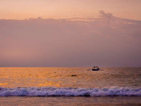 bali beach: Sunset in Bali Beach, Indonesia