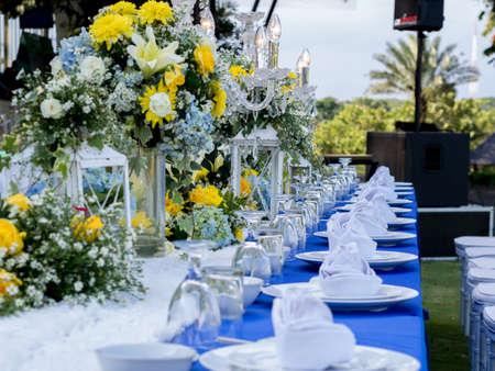 Table de banquet pour mariage