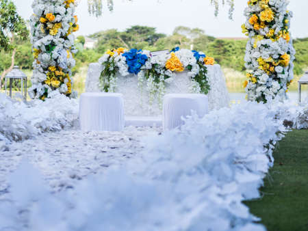 White Wedding Gate Decoration
