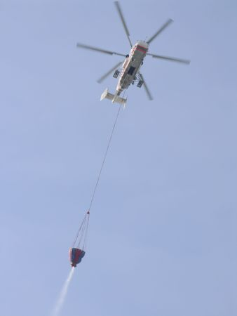 collapsed: fire helicopter to extinguish a conflagration