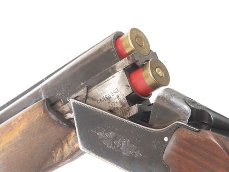 ammunition: shotgun and ammunition Stock Photo