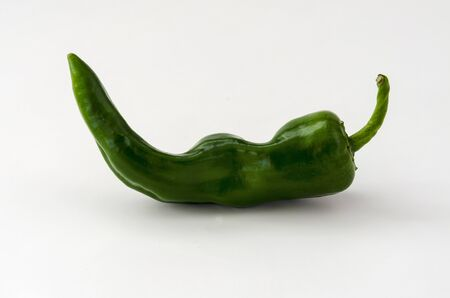 green chili pepper on the white background Stock Photo