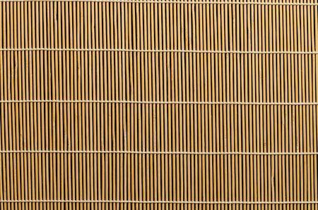 Hermosa estera de bambú, se puede utilizar.