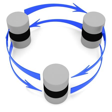 bidirectional: Database synchronization symbol (circular)