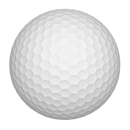 pelota de golf: Pelota de golf (blanco) Foto de archivo