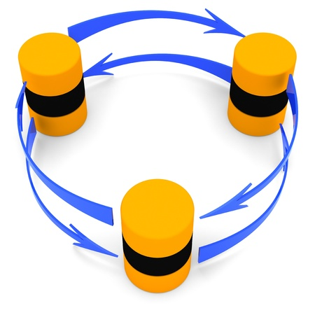 data synchronization: Database synchronization symbol (circular)