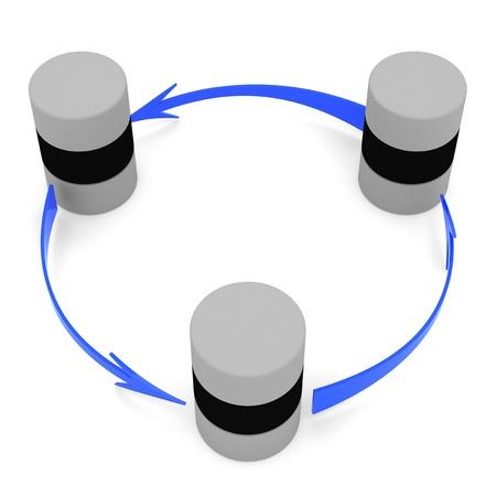 sincronizacion: S�mbolo de sincronizaci�n de base de datos (circular)