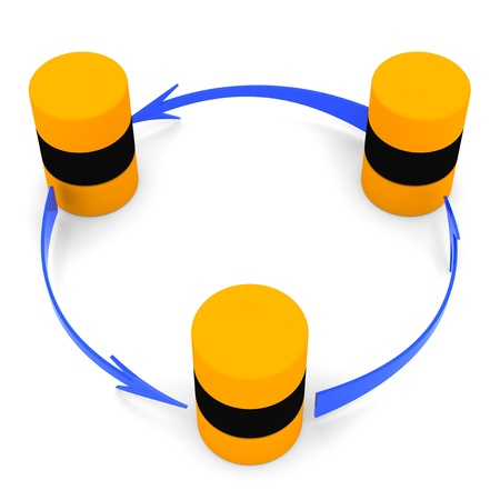Database synchronization symbol (circular) Stock Photo - 9449503