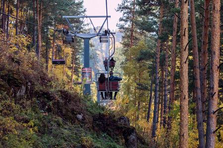 belokurikha: Descent from Tserkovks mountain in the city the resort of Belokurikha
