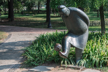 olympic: Sculptures of athletes in the Olympic Park of China