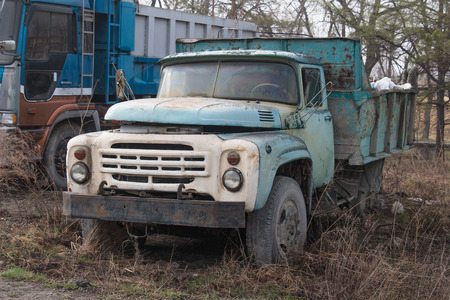 rusty car: The old rusty car for transportation of freight