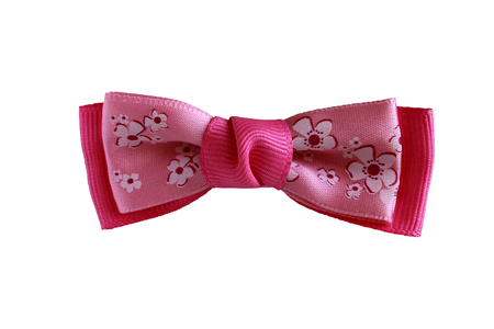 butterfly bow: Beautiful pink bow on a white background