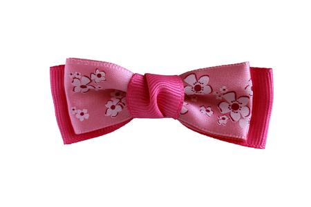 mo�o rosa: Hermoso arco de color rosa sobre un fondo blanco