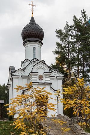 belokurikha: Church in the city wood of the city of Belokurikha Stock Photo