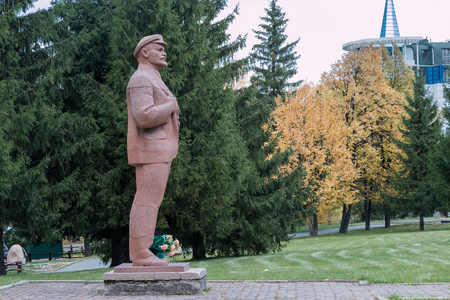 belokurikha: Monument to Vladimir Ilyich Lenin in the city the resort of Belokurikha
