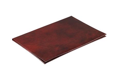 remuneraciones: La carpeta clarete de una remuneraci�n en un fondo blanco