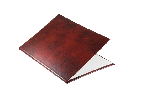 claret: The claret folder for remuneration on a white background Stock Photo