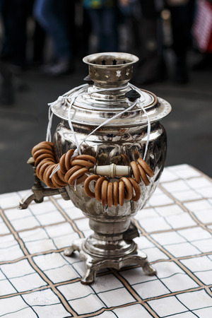 The Russian samovar with drying during a holiday