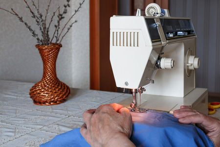 tailoring: Tailoring on the electric sewing machine