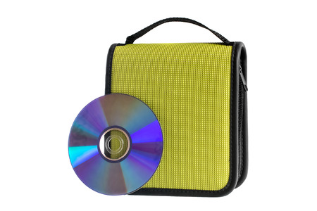 Bag for compact disks on a white background