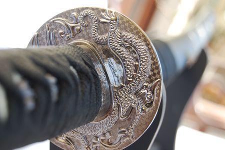 Lavored hilt of japanese katana Stock Photo - 2631107