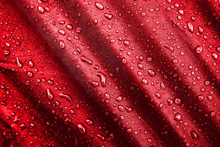 Water drops on the fabric Stock Photo