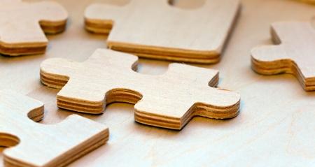 Wooden Puzzles  Banco de Imagens