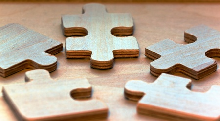 Puzzles en bois Banque d'images - 11431550