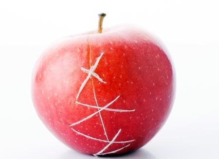 apple sewn thread - a symbol of plastic surgery