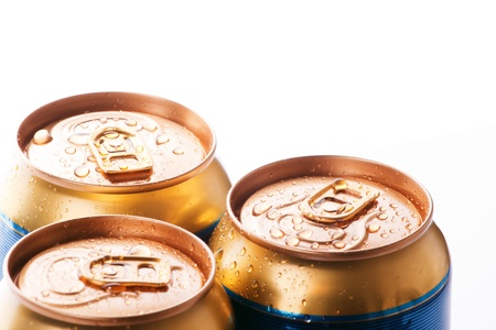 cans of cold drinks on a light background.large Stock Photo - 16819306