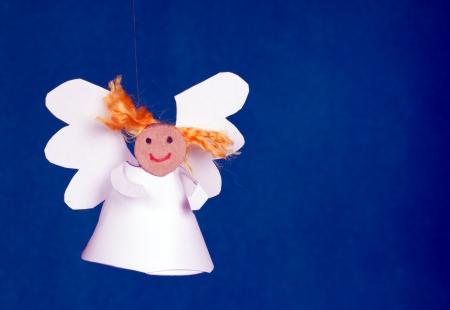 funny paper angel girl Banque d'images