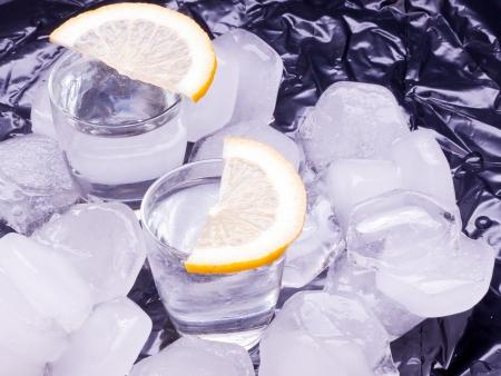 vodka and ice