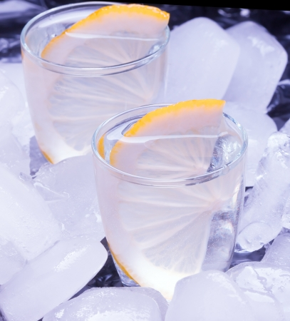 russian vodka  and  ice Banque d'images