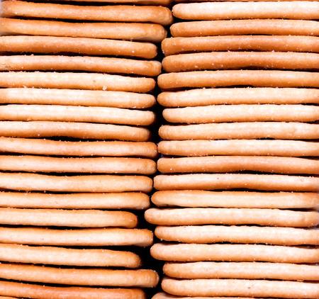 Biscuits maison frais empilés. fermer. fond Banque d'images - 27009029