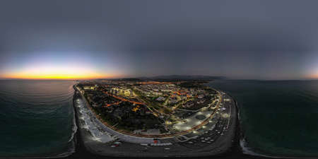 twilight of the black sea. Adler Sochi. High quality photo 360
