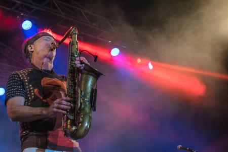 evans: NIS, SERBIA - AUGUST 13: American jazz saxophonist Bill Evans live at Nisville Jazz Festival August 13, 2016 in Nis, Serbia Editorial