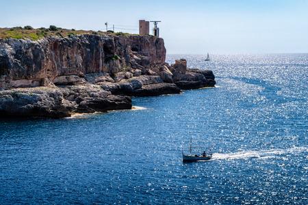 Majorca Cala Figuera in Santanyi Mallorca Balearic islands of spain Standard-Bild