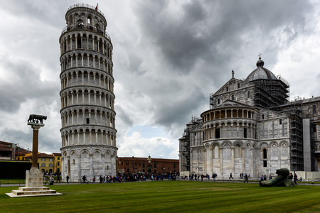Tower and cathedral at the Meadow of Miracles, Pisa Stock Photo