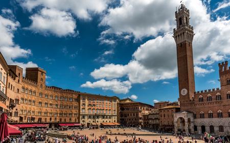 City Center of Siena, Piazza del Campo, Tuscany, Italy